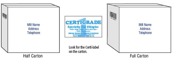 Certi Label Western Cedar Products Wall Manual Cedar