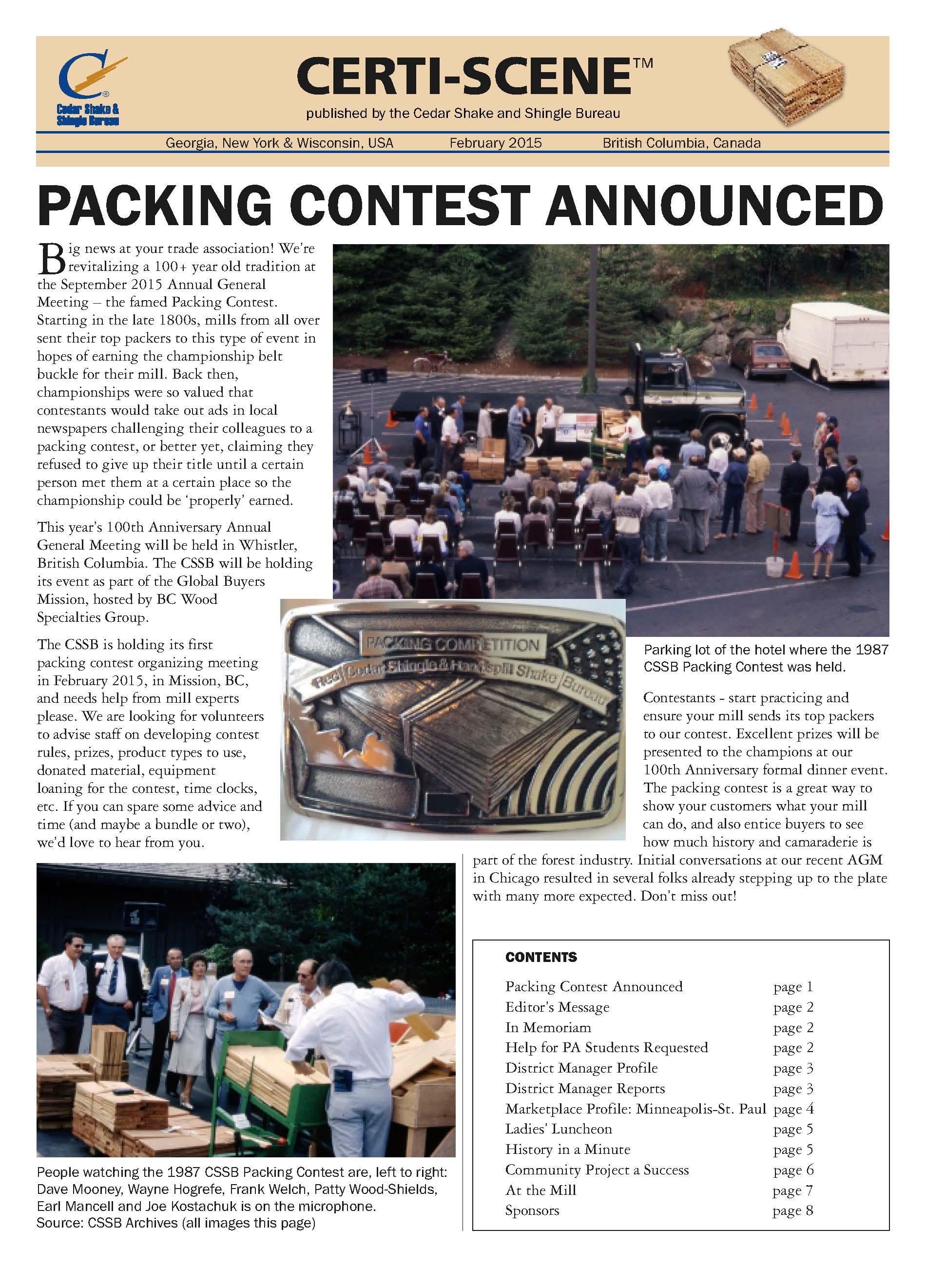 Certi-Scene newsletter