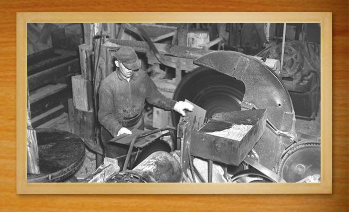 A shingle sawyer hard at work